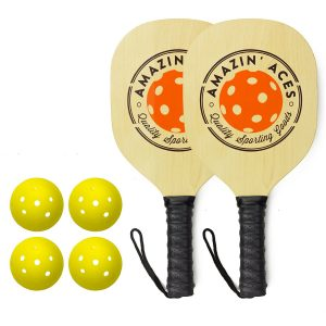 Amazin' Aces Wooden Pickleball Paddle Bundle
